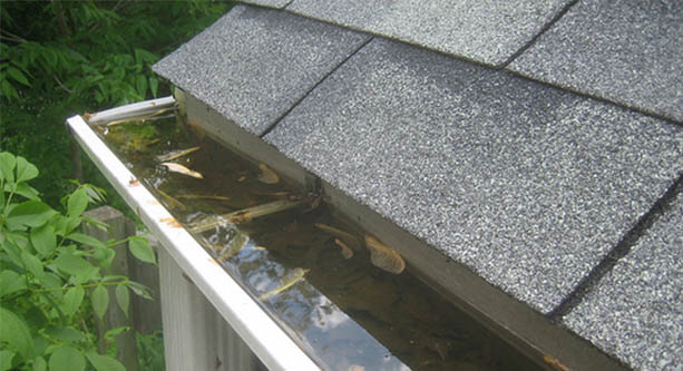 flooded guttering